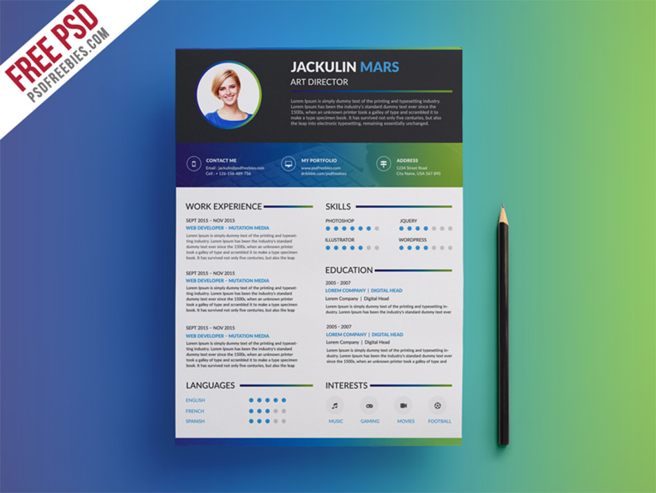 Best free resume templates for designers colorful creative resume maxwellsz