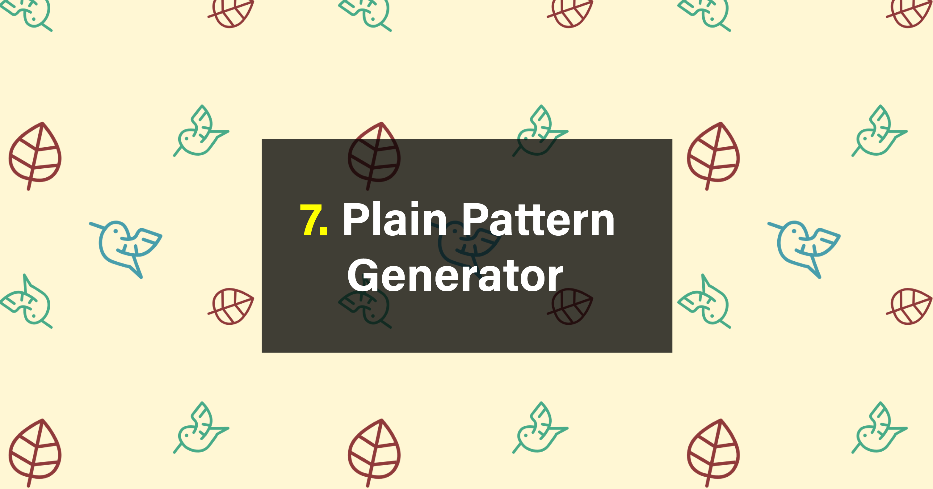 7 Free SVG Pattern Generators - Vandelay Design